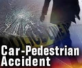 Pedestrian v car accident