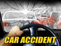 Car accident banner